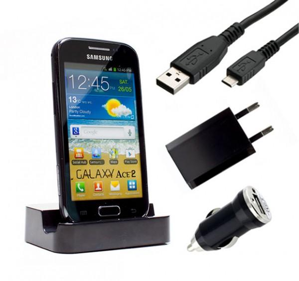 Samsung Galaxy ace 2 GT-I8160 Dockingstation Ladestation Ladegerät Ladekabel
