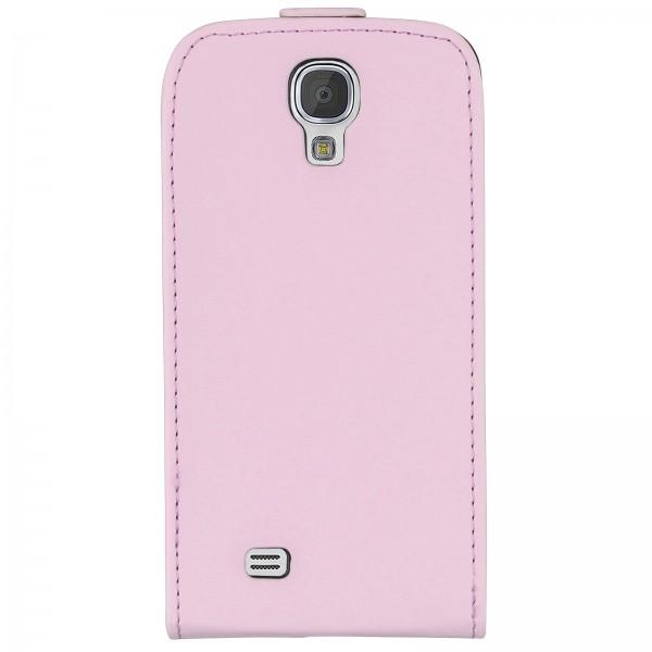 Mobilefox Handy Tasche Schutz Hülle Flip Etui für Samsung Galaxy S4 Hellrosa