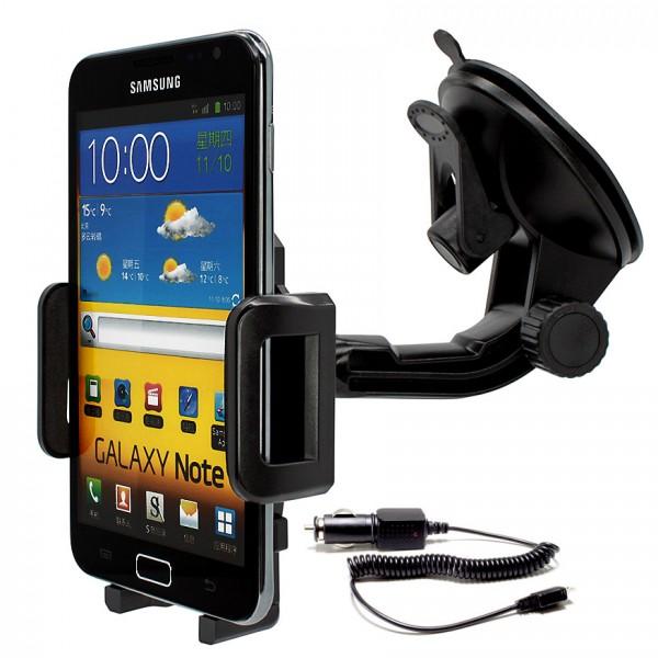 360° Universal Auto KFZ-Halterung Saugnapf inkl. Ladekabel Samsung Galaxy Note