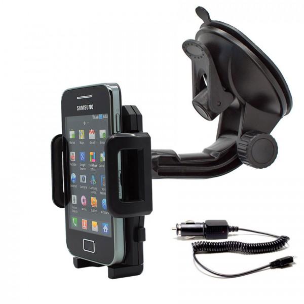 360° Universal Auto KFZ-Halterung Saugnapf inkl. Ladekabel Samsung Galaxy Ace