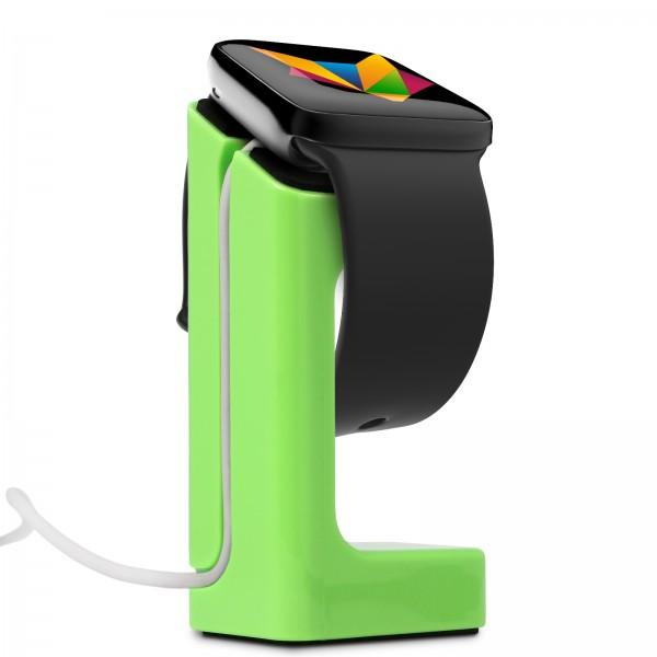 Mobilefox Dockingstation Halterung Ständer Halter Apple Watch 38mm/42mm Grün