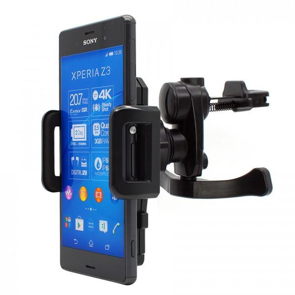 KFZ 360° Lüftungs Handy Halterung Auto Halter Lamelle für Sony Xperia X/Compact/XA/XZ