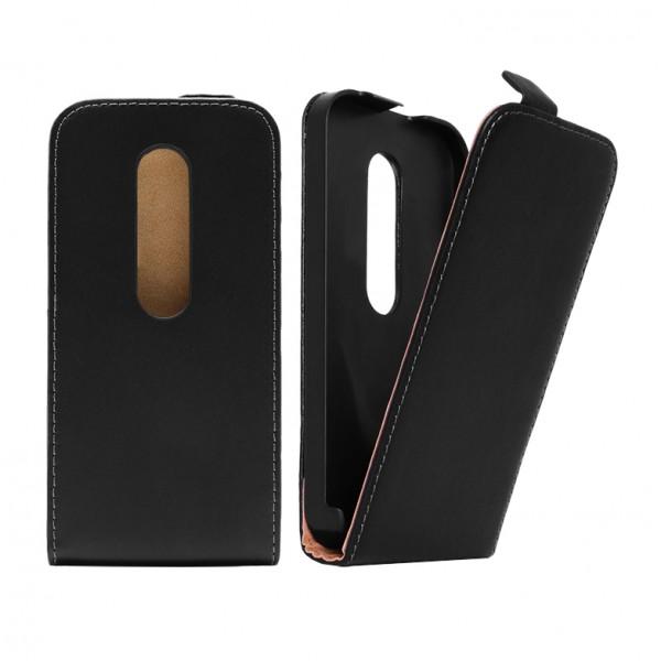 Motorola Moto G 3. Generation Tasche Case Etui Flip Schwarz