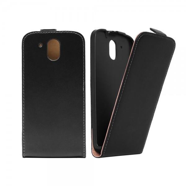 HTC Desire 526G Tasche Case Etui Flip Schwarz