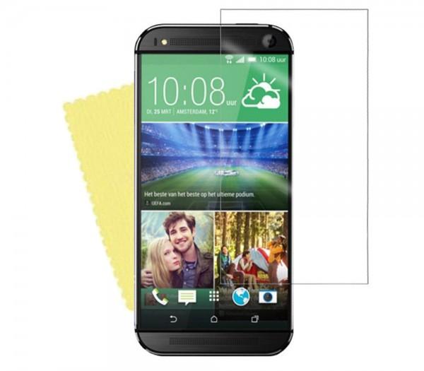 3x DISPLAY HANDY SCHUTZ FOLIE HTC One M9 Screen Protector + Reinigungstuch