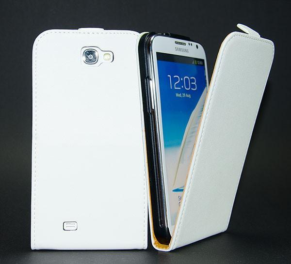 Samsung Galaxy Note 2 GT-N7100 Tasche Weiss Schutz Hülle Case Etui Cover + Folie