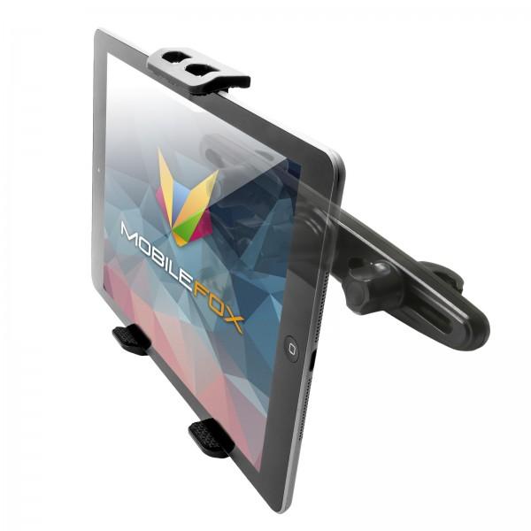 Mobilefox 360° KFZ Kopfstützen Tablet Halterung Auto Kugelgelenk Halter für Universal