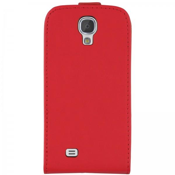 Mobilefox Handy Tasche Schutz Hülle Flip Etui für Samsung Galaxy S4 Rot