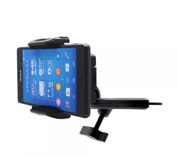 360° KFZ CD-Schlitz-Halterung Schacht Sony Xperia Z/compact/M/E/V/Ultra/Style