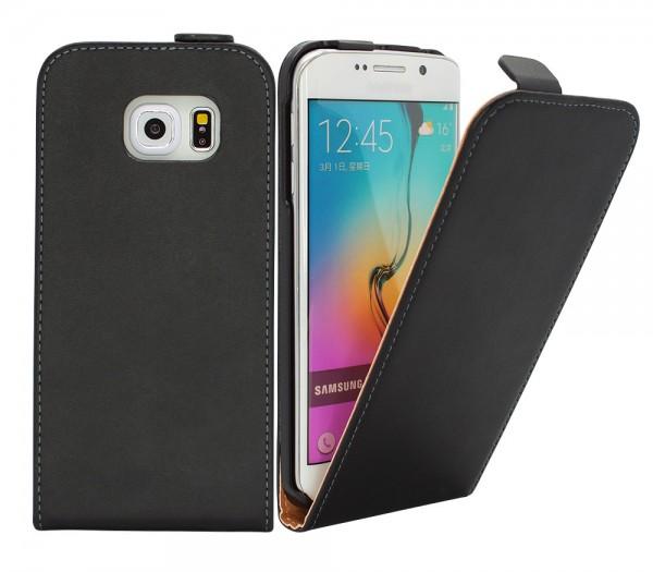 Samsung Galaxy S6 Edge G925 Tasche Schutz Hülle Case Etui Cover Flip Bumper