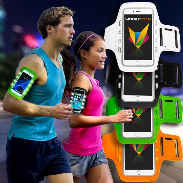 Mobilefox LED Licht Sport Armband Jogging Tasche Handy Halter Tasche