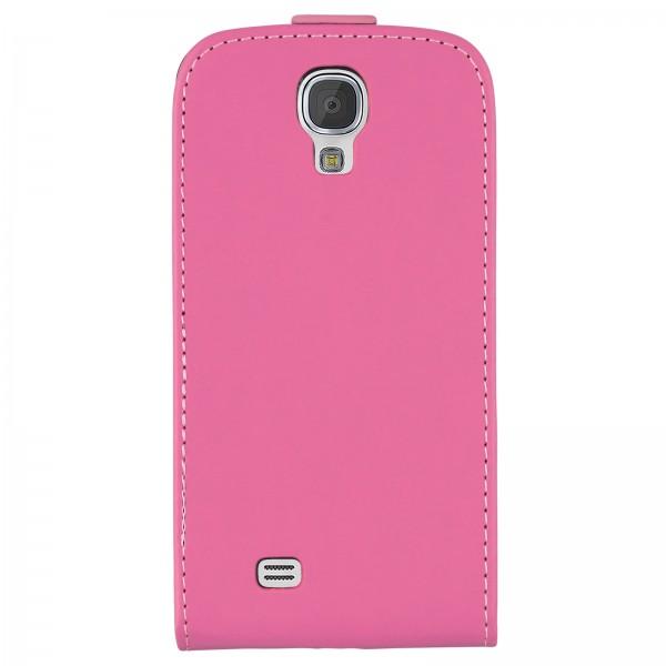 Mobilefox Handy Tasche Schutz Hülle Flip Etui für Samsung Galaxy S4 mini Dunkelrosa