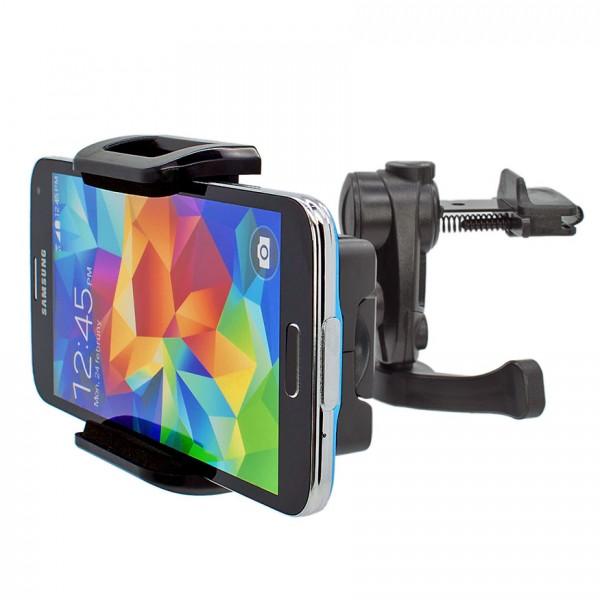 Mobilefox KFZ Lüftungs Halter Lüftungsgitter PKW Halterung Samsung Galaxy S5 SM-G900F 360°