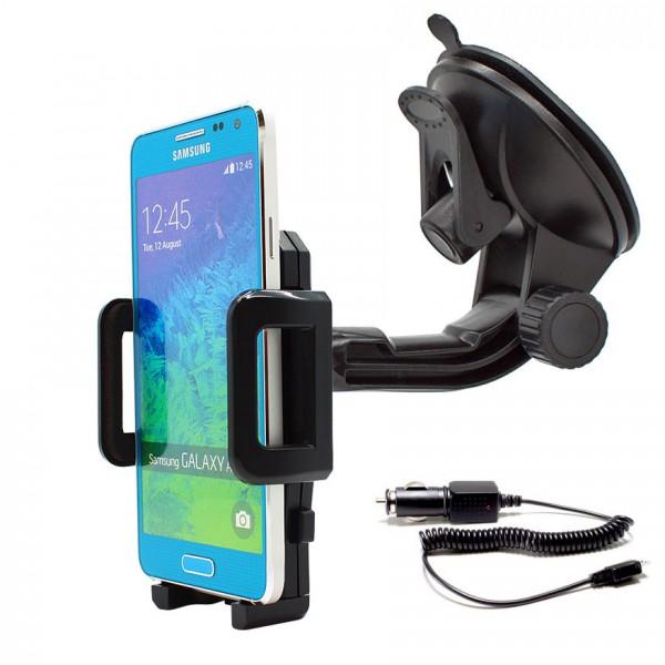360° Universal Auto KFZ-Halterung Saugnapf inkl. Ladekabel Samsung Galaxy Alpha