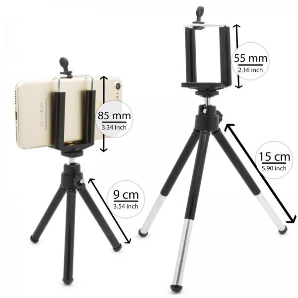 Mobilefox Handy mini Stativ Handy Ständer Selfie Klemmstativ Tripod/Dreibein für Handy