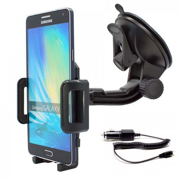 360° Universal Auto KFZ-Halterung LKW Saugnapf inkl. Ladekabel Samsung Galaxy A7