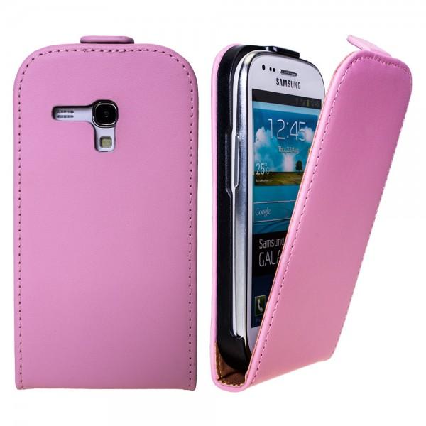 Samsung Galaxy S3 mini GT-I8190 Tasche Pink Rosa Schutz Hülle Case Etui + Folie