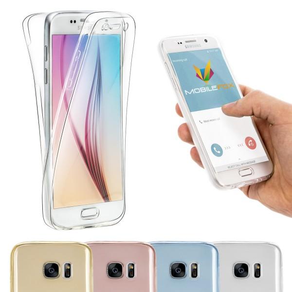 Mobilefox 360° Handy Full Case Silikon-Hülle Display-Schutz Tasche Cover Etui