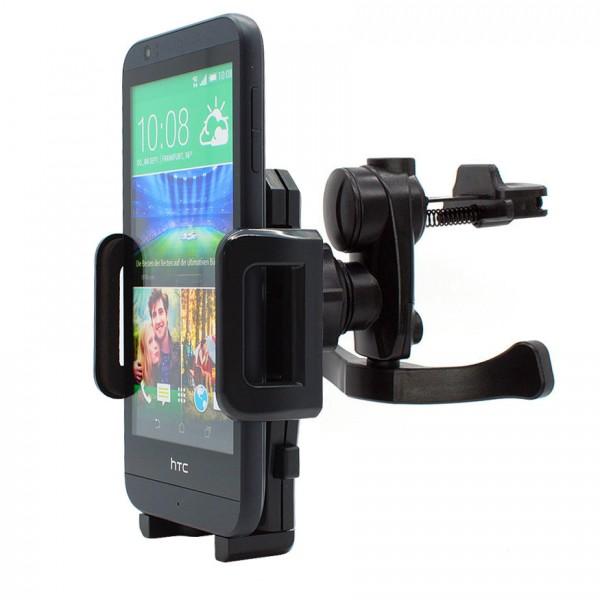 360° HTC Desire 510 Lüftungs Gitter Halter Halterung Auto KFZ PKW Smartphone