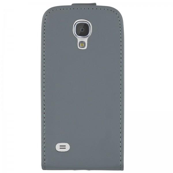 Mobilefox Handy Tasche Schutz Hülle Flip Etui für Samsung Galaxy S4 Grau