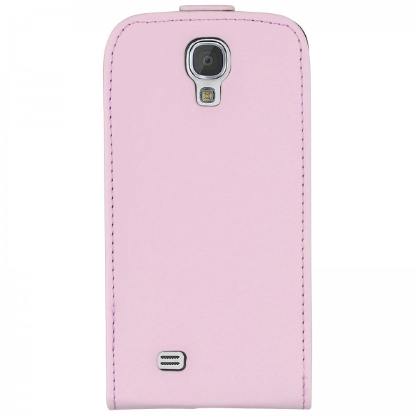 Mobilefox Handy Tasche Schutz Hülle Flip Etui für Samsung Galaxy S4 mini Hellrosa