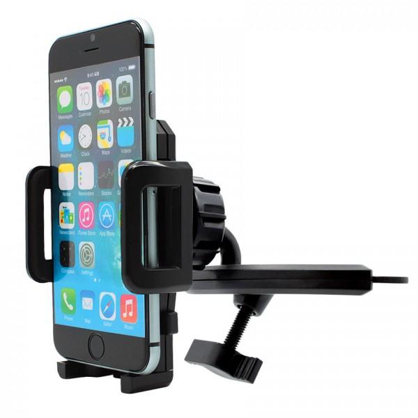 360° KFZ CD Schlitz Schacht Halterung Auto Spalt Halter Handy Apple iPhone 6/S