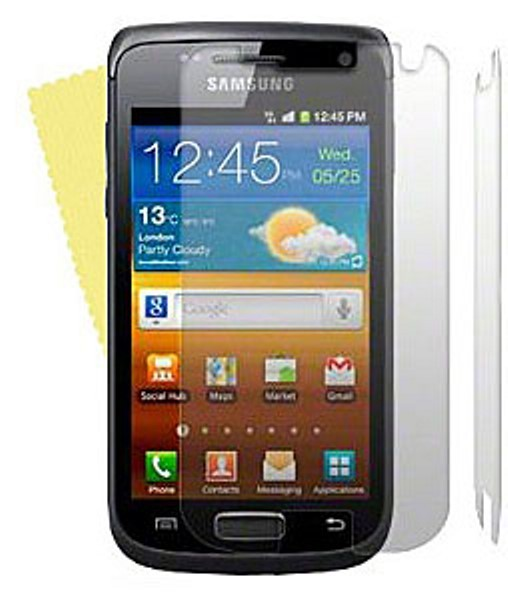 3x DISPLAY HANDY SCHUTZ FOLIE SAMSUNG GALAXY W I8150 SCREEN PROTECTOR