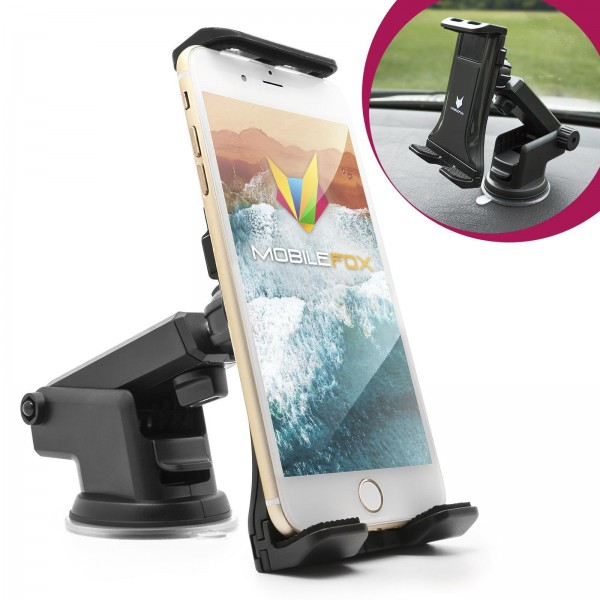 360° KFZ Halterung Halter Handy Smartphone Armaturenbrett Saugnapf Universal