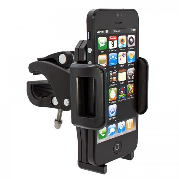 360° Fahrrad Halterung Lenker Halter MTB Bike Schwarz Apple iPhone 7/6S/6/SE/5S/5C/5