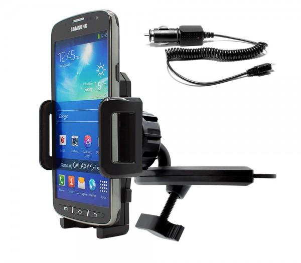 360° KFZ CD Schlitz Schacht Halter Auto Spalt Ladekabel Samsung Galaxy S4 Active