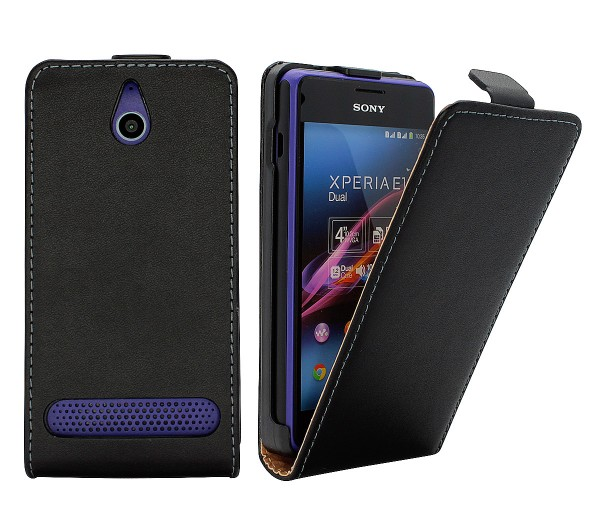 Sony Xperia E1 (D2005) Tasche Schutz Hülle Case Etui Cover Flip