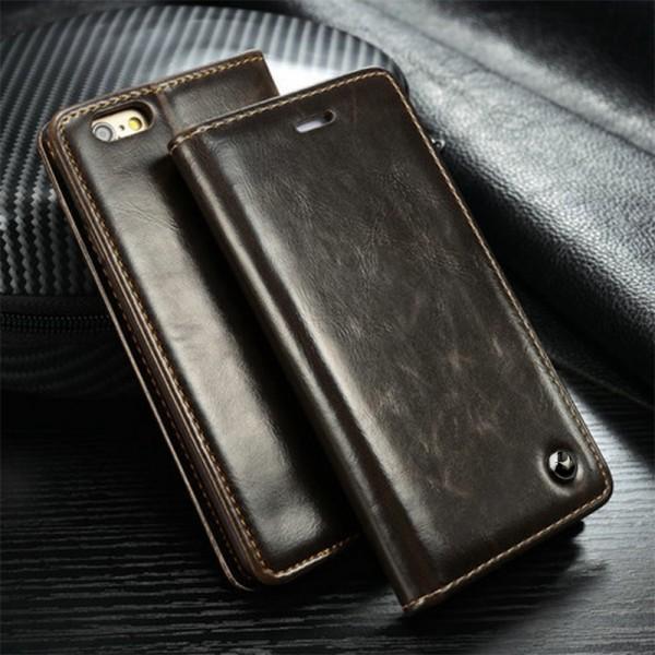 Flip Case Schutz Hülle Portemonnaie Etui Cover Magnetverschluss für Smartphone