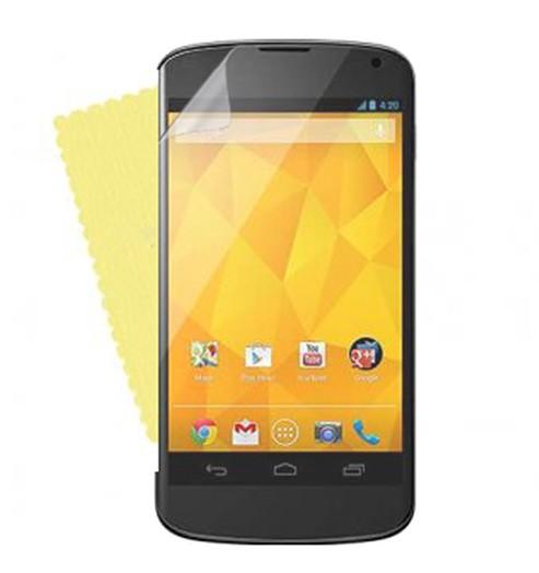 3x DISPLAY HANDY SCHUTZ FOLIE LG Google Nexus 4 + REINIGUNGSTUCH TOP QUALITÄT