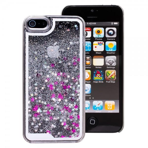 mobilefox Treibsand Schneekugel-Effekt Schutzhülle Tasche Case Etui Glitter