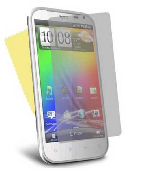 3x DISPLAY HANDY SCHUTZ FOLIE HTC Sensation XL + REINIGUNGSTUCH TOP QUALITÄT