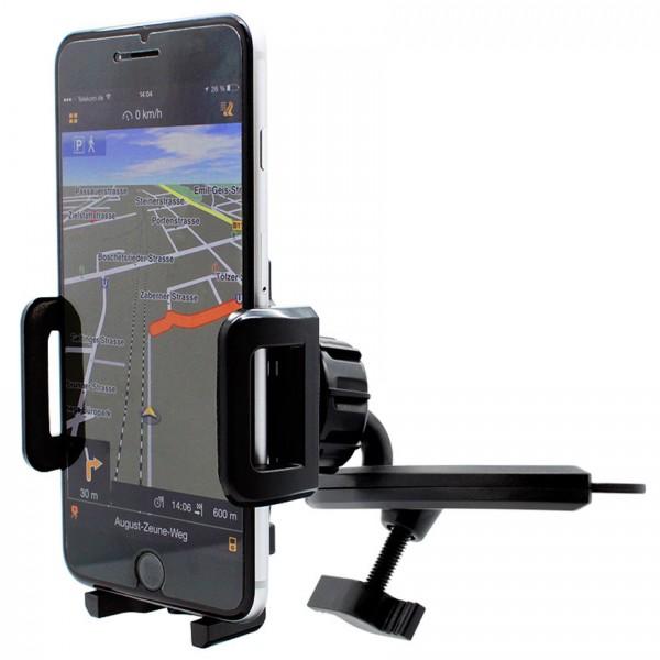 360° KFZ CD Schlitz Schacht Halterung Auto Spalt Halter Apple iPhone 6/S Plus
