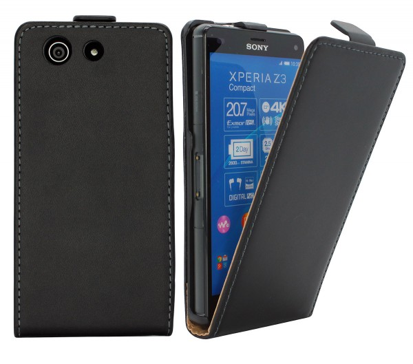 Sony Xperia Z3 compact (D5803) Tasche Schutz Hülle Case Etui Cover Flip