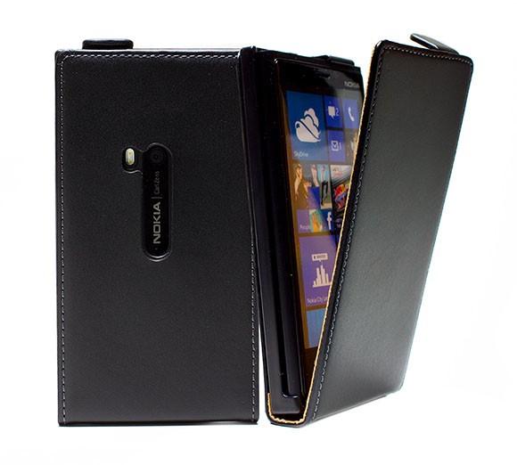Handy Tasche Schutz Hülle Flip Case Etui Cover für Nokia Lumia 920 Schwarz