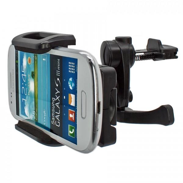 Mobilefox Lüftungs Halterung Auto KFZ Halter Samsung Galaxy S3 Mini GT-I8190 360°