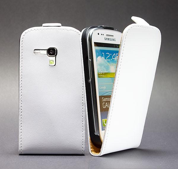 Samsung Galaxy S3 mini GT-I8190 Tasche Weiss Schutz Hülle Case Etui Cover +Folie