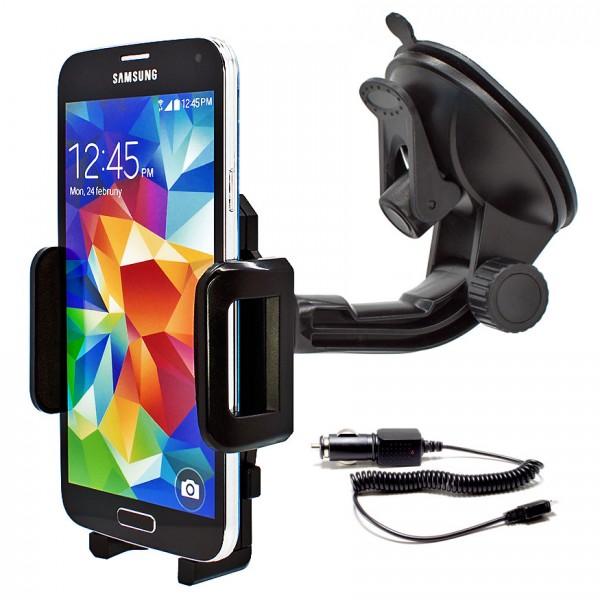 360° KFZ Auto Halter Halterung Samsung Galaxy S7/S6/S5/S4/mini/Edge/Neo + Kabel