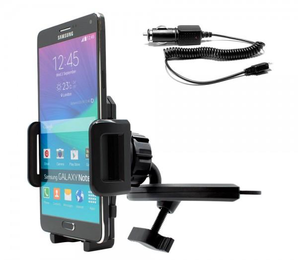 360° KFZ CD Schlitz Schacht Halterung Auto Ladekabel Samsung Galaxy Note 4