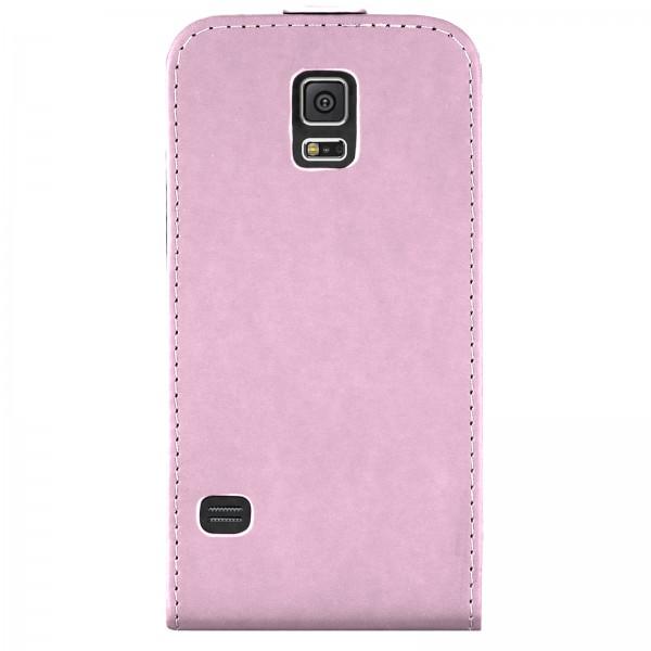 Mobilefox Handy Tasche Schutz Hülle Flip Etui für Samsung Galaxy S5 Rosa