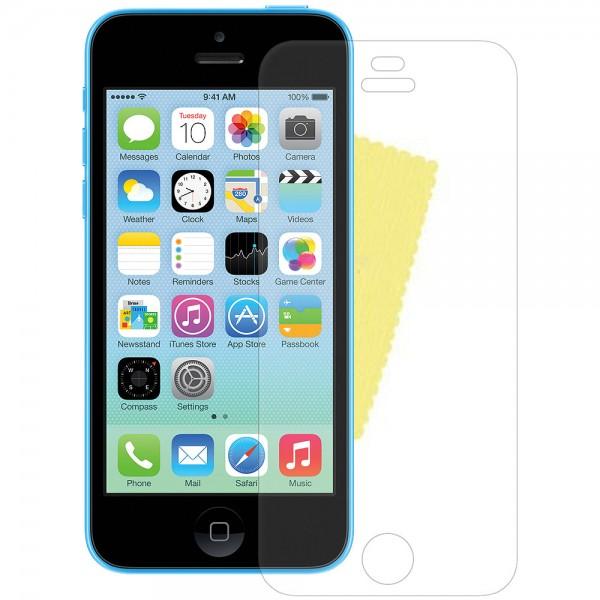3x DISPLAY HANDY SCHUTZ FOLIE Apple iPhone 5C + REINIGUNGSTUCH Screen Protector