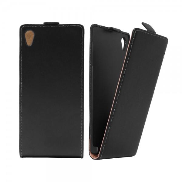 Sony Xperia Z5 (E6653) Tasche Case Etui Flip Schwarz