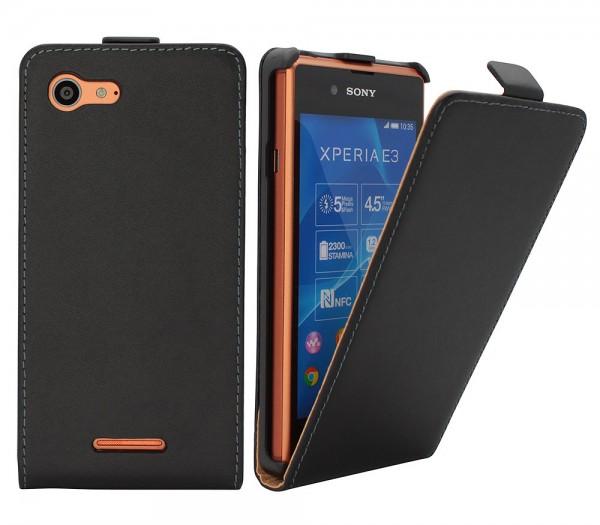 Sony Xperia E3 D2203 Tasche Schutz Hülle Case Etui Cover Flip