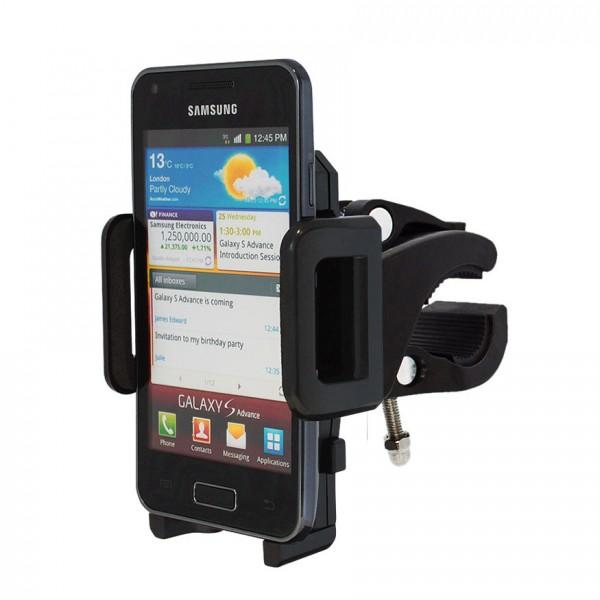 360° Fahrrad Halterung Lenker Halter MTB Bike Schwarz Samsung Galaxy S Advance