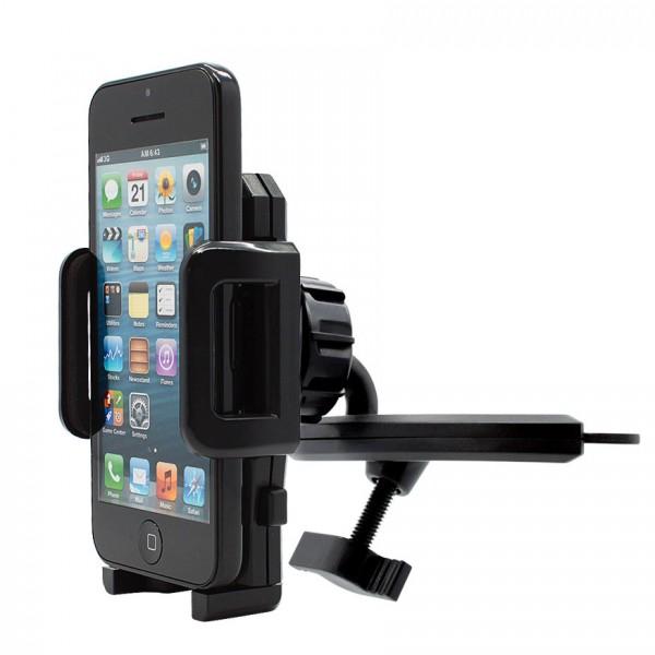 360° KFZ CD Schlitz Schacht Halterung Auto Spalt Halter Handy Apple iPhone 5C