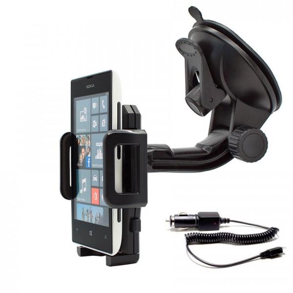 360° Universal Auto KFZ-Halterung LKW Saugnapf inkl. Ladekabel Nokia Lumia 520