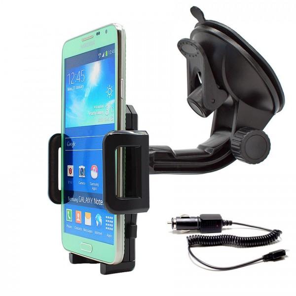 360° Universal Auto Halterung Saugnapf inkl. Ladekabel Samsung Galaxy Note 3 Neo